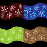 Seamless Xmas Vector 4 In 1 Stock Photography