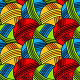 Seamless yarn balls background pattern Stock Photography