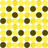 Seamless yellow abstract balls striped pattern. Abstract yellow balls geometric background. Seamless tile Royalty Free Stock Image