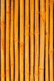Seamless yellow bamboo stick striped pattern Stock Photography