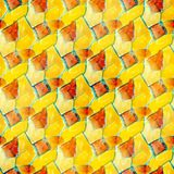 Seamless yellow, colorful watercolor handmade Stock Photography