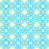 Seamless yellow and cyan circles pattern Royalty Free Stock Image