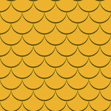 Seamless yellow fish scale pattern. Abstract seamless yellow fish scale vector pattern Royalty Free Stock Photos