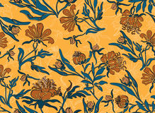Seamless yellow flower background royalty free stock photo