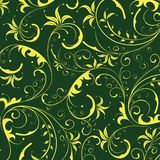 Seamless yellow flower pattern Stock Images
