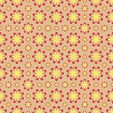 Seamless yellow flower pattern Stock Photography