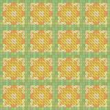 Seamless yellow geometric texture Royalty Free Stock Photos