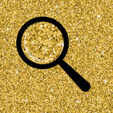 Seamless yellow gold glitter texture. Shimmer background. Stock Photos