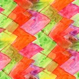 Seamless Yellow, green, red, orange watercolor artist wallpaper Royalty Free Stock Photos