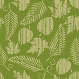 Seamless  with  yellow leaves. Grunge seamless pattern from  yellow leaves(can be repeated and scaled in any size Stock Images