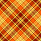 Seamless yellow-orange cross pattern Stock Image