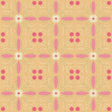 Seamless yellow pattern on fabric basis. Seamless yellow pattern on fabric basis Royalty Free Stock Photo