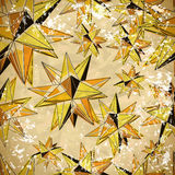 Seamless yellow pattern of triangles volume in vintage style Royalty Free Stock Photo