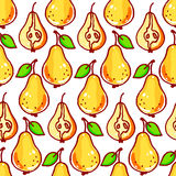 Seamless yellow pears Royalty Free Stock Photography