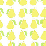 Seamless yellow pears Stock Images