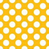 Yellow Polka Dot Seamless Paper Pattern vector illustration