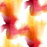 Seamless yellow red pattern background. Abstract handmade watercolor hand painted art. Seamless yellow red pattern background. Abstract handmade watercolor hand Stock Image