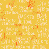 Seamless yellow school pattern Stock Images