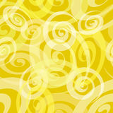 Seamless Yellow Spiral Pattern Stock Photos