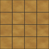 Seamless yellow square tiles Stock Photography