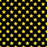 Seamless yellow star pattern on black Royalty Free Stock Image