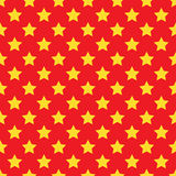 Seamless yellow star on red Royalty Free Stock Photo