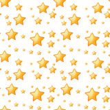 Seamless yellow stars Royalty Free Stock Photo