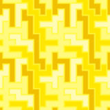 Seamless yellow tile pattern Stock Photo