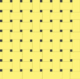 Seamless yellow woven texture. Royalty Free Stock Image