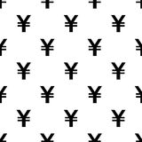 Seamless Yen Currency pattern on white Royalty Free Stock Image