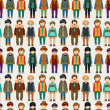 Seamless young boy pattern Stock Photos