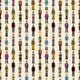 Seamless young boy pattern Stock Photography