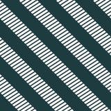 Seamless zebra crossing  pattern. Monochrome, White lines on black background. Stock Image