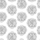 Seamless zen-doodle Royalty Free Stock Images