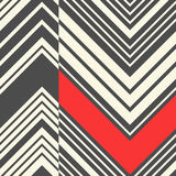 Seamless Zig Zag Pattern. Abstract Black and Red Stripe Backgrou Stock Photography