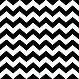 Seamless zig zag pattern in black and white Stock Image