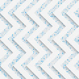 Seamless Zig Zag Pattern. White and Blue Wrapping Background Royalty Free Stock Photos