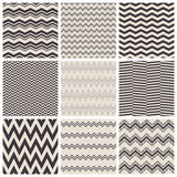 Seamless zig zag patterns. Set of seamless zig zag patterns, vector illustration Stock Images