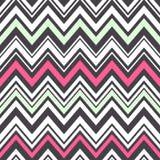 Seamless zig zag stripes pattern Stock Photography