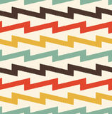 Seamless zig zag stripes textured pattern Royalty Free Stock Photography