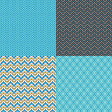 Seamless Zigzag Abstract Patterns Royalty Free Stock Photo