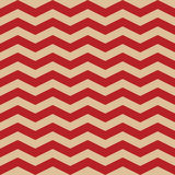 Seamless  ZigZag Chevron Pattern. Red and white  background. Stock Photography
