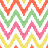 Seamless zigzag fabric pattern Stock Images