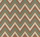 Seamless Zigzag knitting pattern Stock Photography