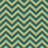 Seamless Zigzag knitting pattern Royalty Free Stock Images