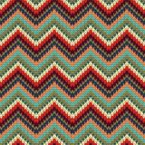 Seamless Zigzag knitting pattern Stock Image