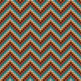 Seamless Zigzag knitting pattern Stock Photo