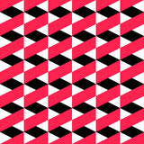 66-2. Seamless ZigZag Pattern. Abstract  Black and Red Background. Vector Regular Texture Stock Image