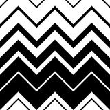 Seamless Zigzag Pattern. Abstract Black and White Stripe and Lin Stock Photo
