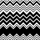 Seamless Zigzag Pattern. Abstract Black and White Stripe and Lin Royalty Free Stock Photos